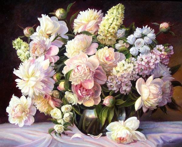 Bouquet des fleurs du jardin de mamietitine