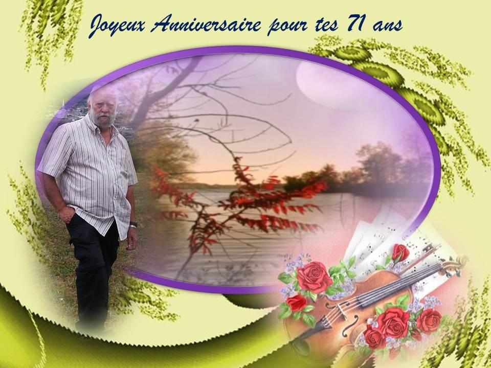 Joyeux Anniversaire Pour Tes 71 Ans